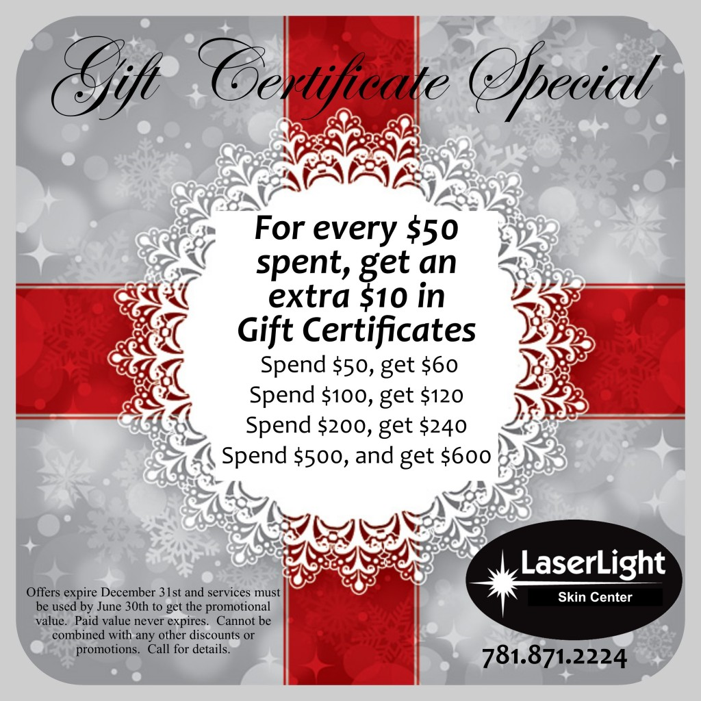 holiday gift certificate special